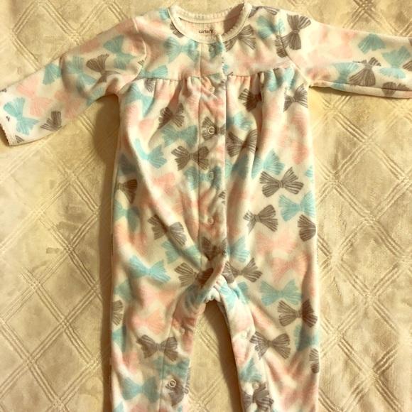 4d35120b7 Carters Baby Girl Button Up Footless Sleeper
